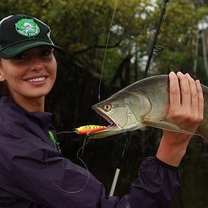 Eliška with fish