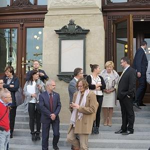 Slovenská ministryně kultury L'. Laššáková