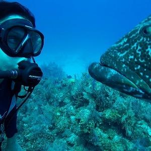 Pod vodou je fotografka jako doma.