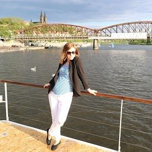Amazing trip on the river Vltava