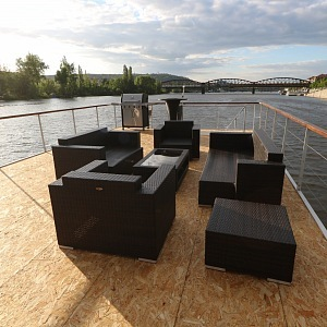 Luxurious terrace with 50 m²
