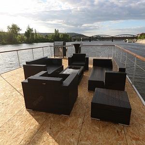 Luxusní terasa na střeše má 50 m²