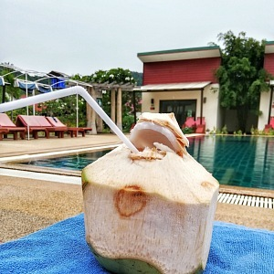 Chybět nemohla ani tradiční Coconut drink