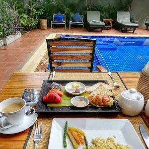 Luxusní snídaně umí v Po Residence