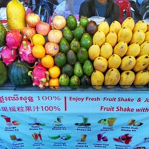 Ovoce a shaky, to je Kambodža!