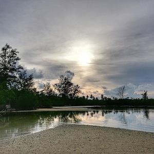 Západ Slunce na Palm Beach