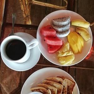 Luxurious breakfast
