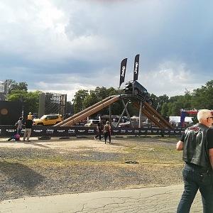 V areálu výstaviště jezdily i jeepy