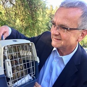 Miroslav Kalousek se zvířat nebojí