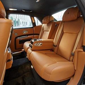 Rolls Royce Ghost, kožené sedačky