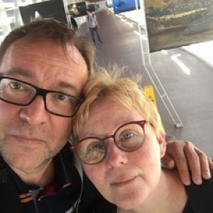 Lucie Juřičková společně se svým manželem Martinem Zahálkou.