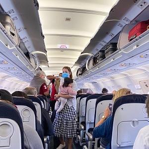 Nástup do letadla.