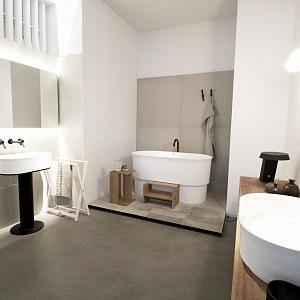Koupelna s celým provedení od Agape, vana Immersion