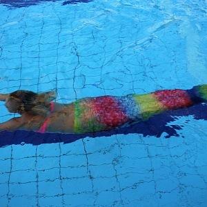 Plavání s ploutví je náročná disciplínu.