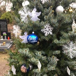 Rodina nechal zpěvákovi vyrobit i vánoční kouličky.