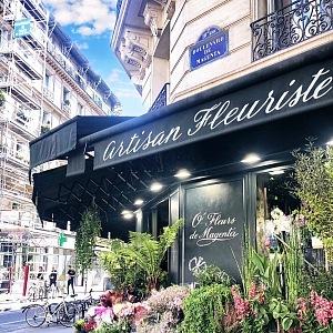 Famous florist shopat Boulevard de Magenta