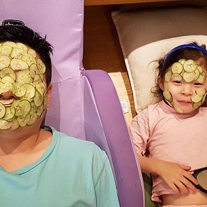 Would you like cucumber mask?
