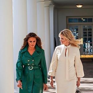 Moniky Babišová a Melania Trump