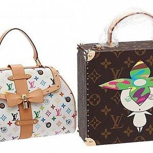 Luxusní kabelky LV s potiskem od Takashi Murakami