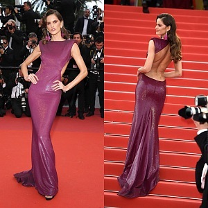 Izabel Goulart - dress Etro