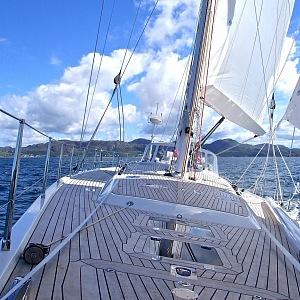 Jachta na vodě