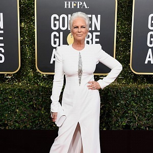 Jamie Lee Curtis, dress Alexander McQueen