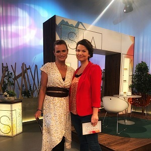 Jana as a presenter of the show Sama doma