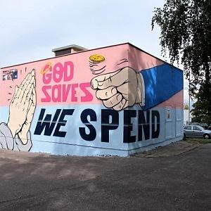 Praha, Jižní město, graffiti by Pasta Oner