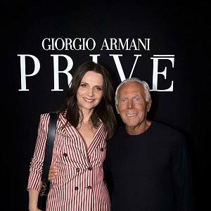Giorgio Armani a Juliette Binoche
