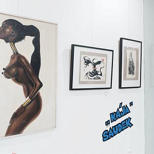 Slavný obraz s černoškou, Kája Saudek