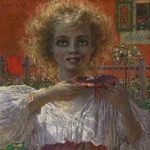 Dívka s dortem
