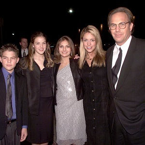Kevin Costner and part of his family
