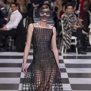 Průhledné textilie Dior