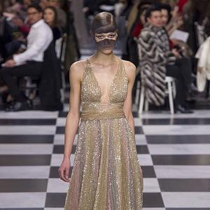 Bronzový třpyt Dior Couture 2018