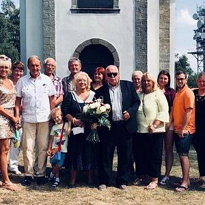 Klára Dostálová na zlaté svatbě svých rodičů.