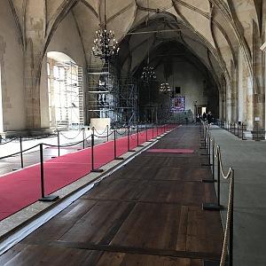 Koridory pro návštěvníky Vladislavského sálu.
