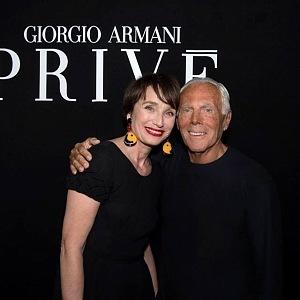 Giorgio Armani a Kristin Scott Thomas