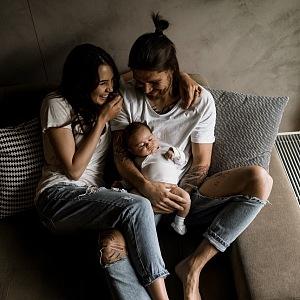 Kristýna s manželem a synkem.