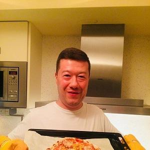 Tomio in the kitchen