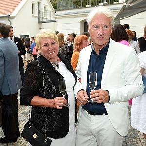 Ladislav Špaček se svou manželkou Evou.