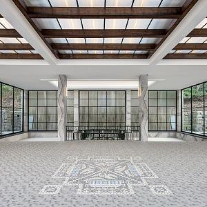 Lázeňská kolonáda a replika mozaikové dlažby