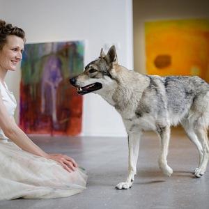 Lenka Černota má pro vlky slabost.