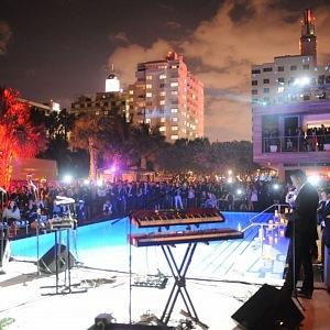 Lenny Kravitz otevření SLS hotelu South beach