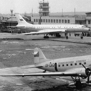The airport in 1957