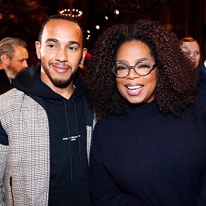 Lewis Hamilton and Oprah Winfrey, Stella McCartney show