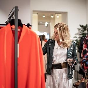 Kateřina Klausová v novém butiku