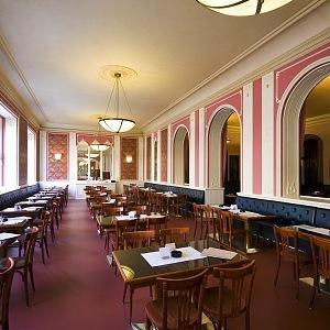 Interior of Café Louvre
