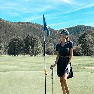 Taťána Makarenko na golfu
