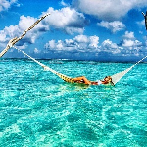 Nedávno byla kráska na luxusní dovolené na Maledivách.