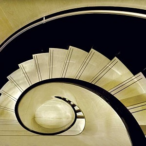 Amazing stairs in the yacht
